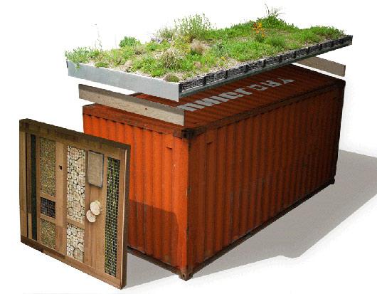 Arquitetando ideias telhado verde e container boas solu es for Better homes and gardens storage containers