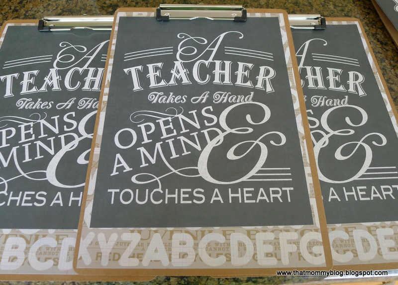 That Mommy Blog: Easy, Personalized Teacher Gifts