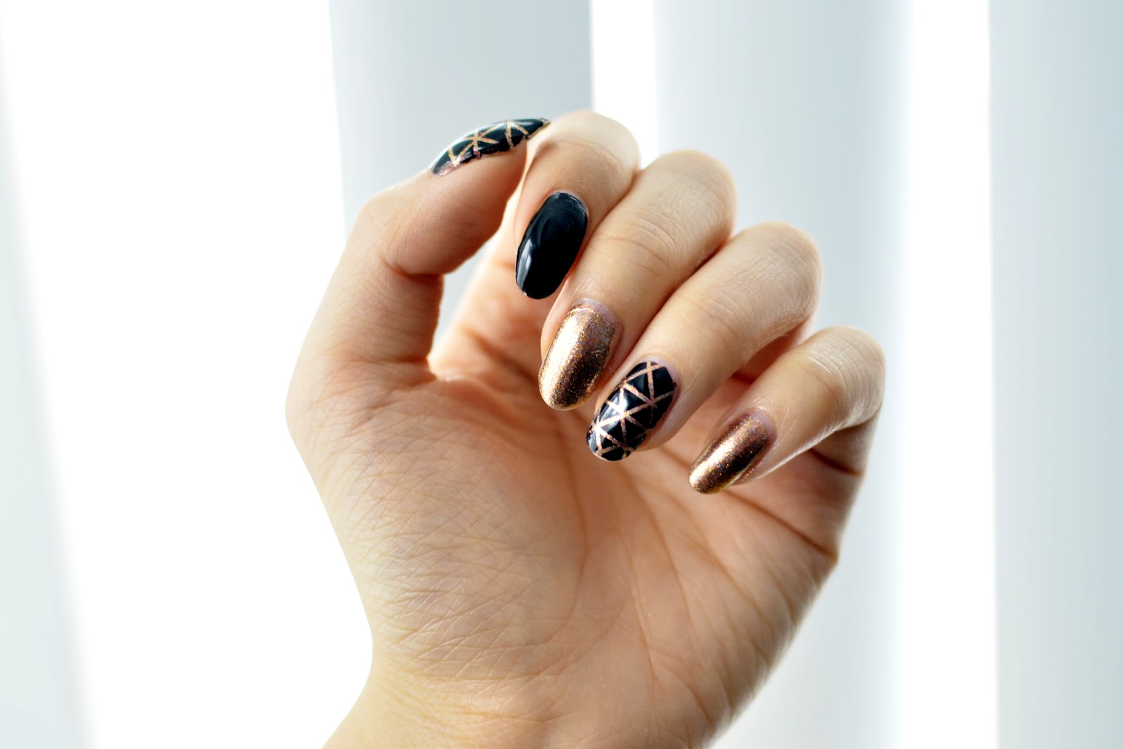 fun size beauty: #MANIMONDAY - Geometric Nail Art ft. Formula X ...