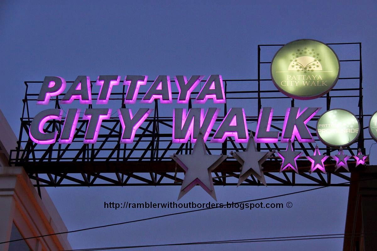 Pattaya City Walk sign, Thailand