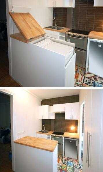 La fabrique d co int grer esth tiquement un lave linge for Cuisine qui se ferme