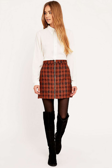urban check skirt