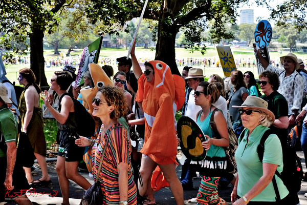 Marching for the Fish - Sydney, Climate Change March, The Domain, Macquarie Street, Climate Change, Protest, #NoPlanetNoFuture, #PeoplesClimate, #PeoplesClimateMarch, #Sydney,