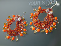 Swarovski Neon - Wire Crochet Earrings