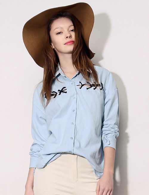 Eyelet Denim Shirt