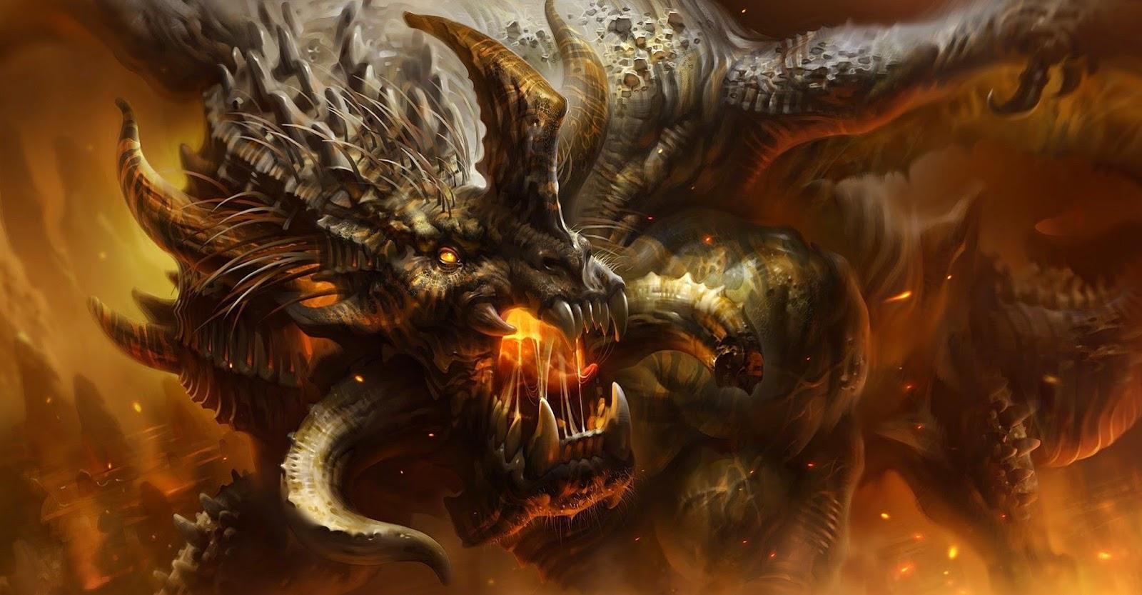 Papel de Parede Dragão para pc 3d hd Dragon Desktop Wallpaper Art
