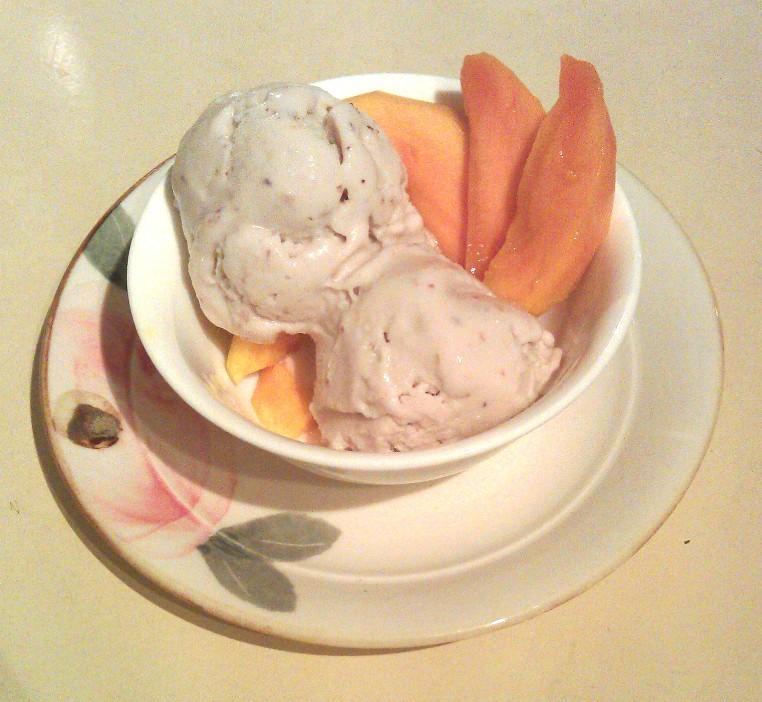 ... Gap Year: The Things I Deem Bloggable: White nectarine vegan ice cream