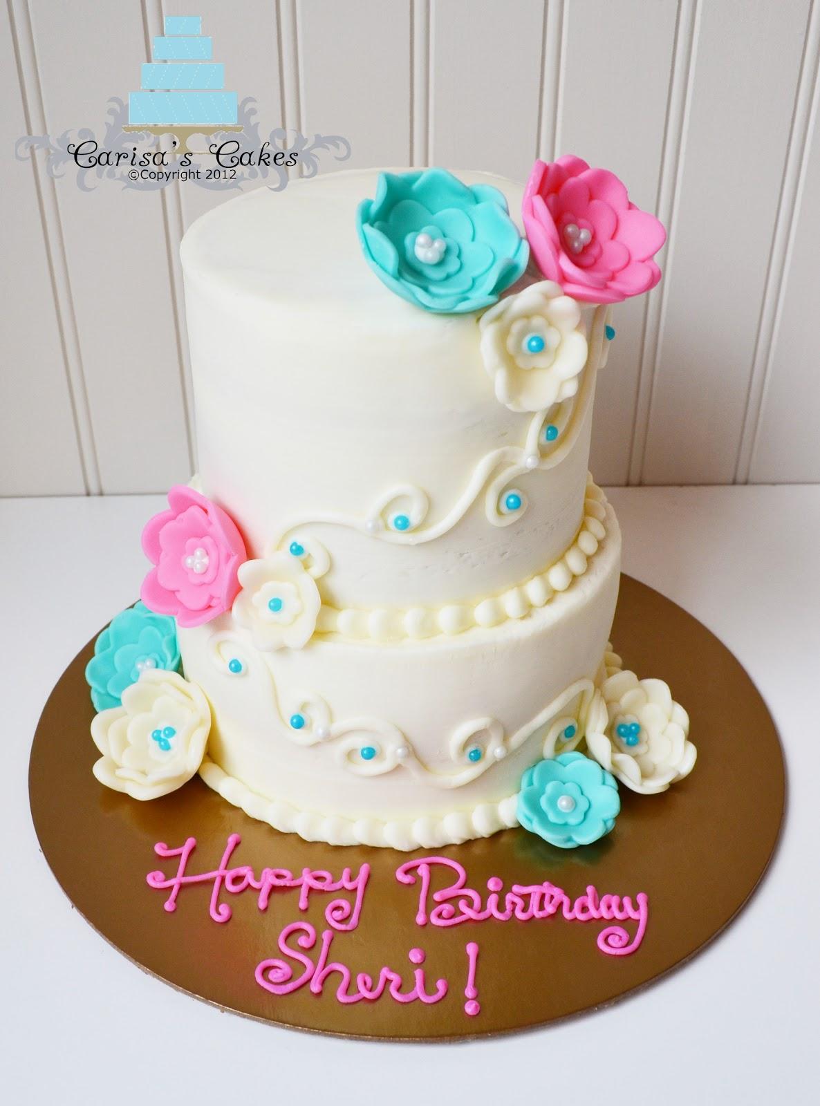 Carisa S Cakes Tiered Miniature Birthday Cake
