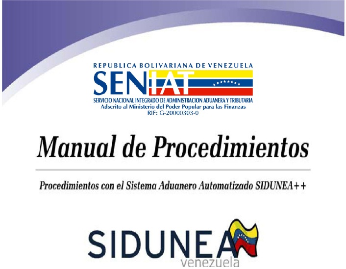 Manual de Procedimientos SIDUNEA ++