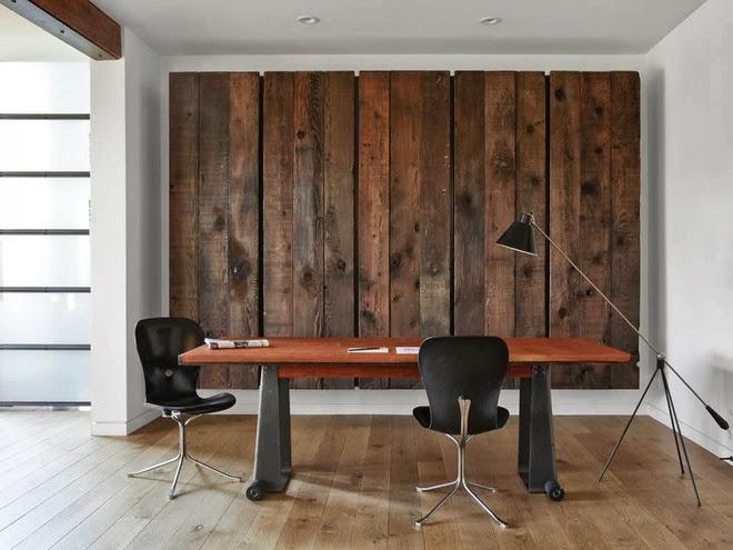 Revestimientos de madera reciclada InspiracinEspacios en madera