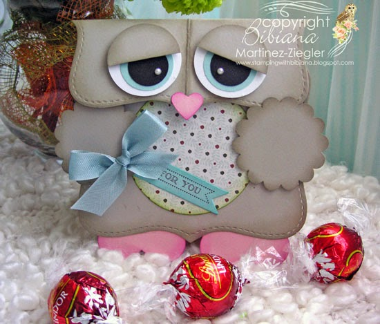 owl easter candy holder bags