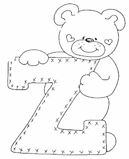 Adoro esse alfabeto de ursinhos.