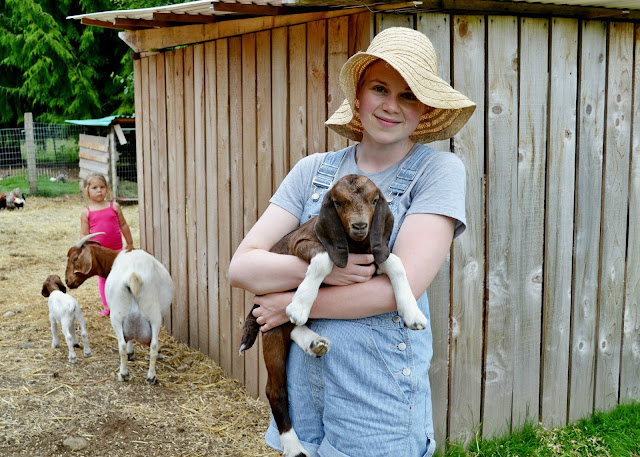 baby animal, overall shorts, denim, straw hat, summer, catie beatty, spring, blonde