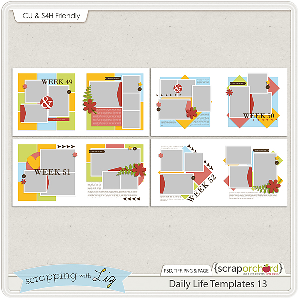 http://scraporchard.com/market/Daily-Life-13-Digital-Scrapbook-Templates.html