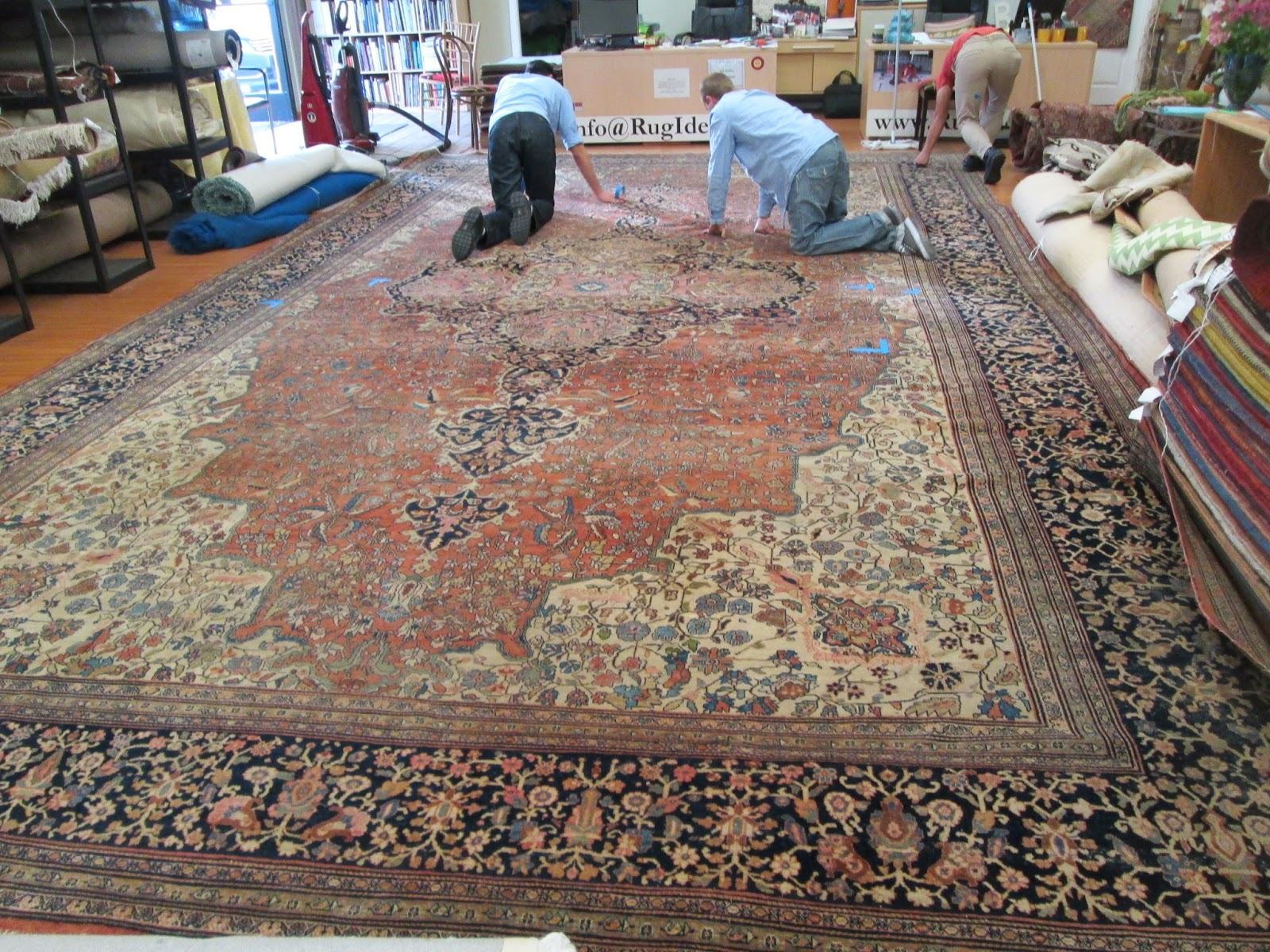 Rugs Are Difficult To Handle And Bring In So Usually We Pick Them Up From Our Clients Rather Than Dropping The Off