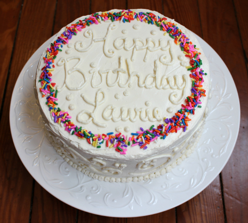 love laurie confetti cake with vanilla swiss meringue buttercream