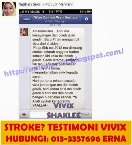 Vivix Shaklee bantu pesakit stroke