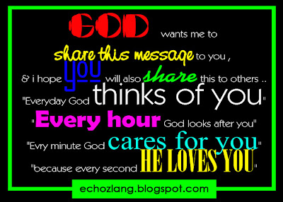 Every hour God looks after you. Every minute God cares for you,