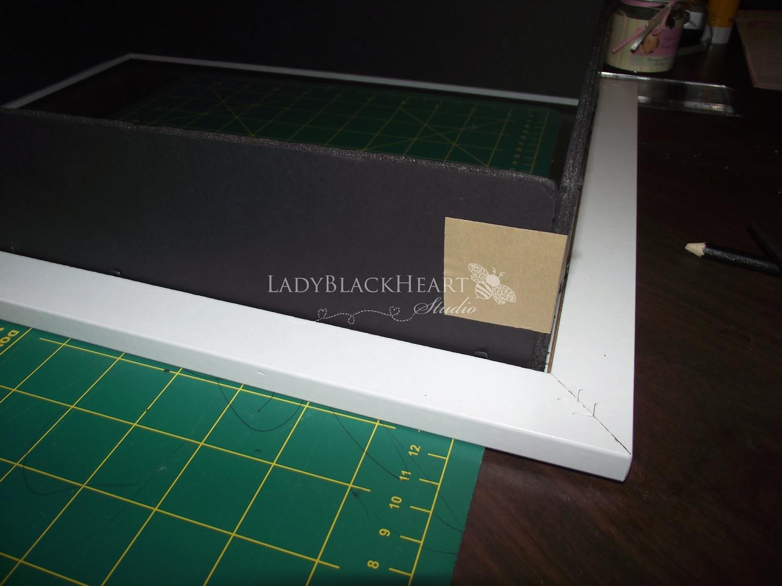 LadyBlackHeart Studio: DIY| Baby Shower Keepsake Frame - Shadow Box ...