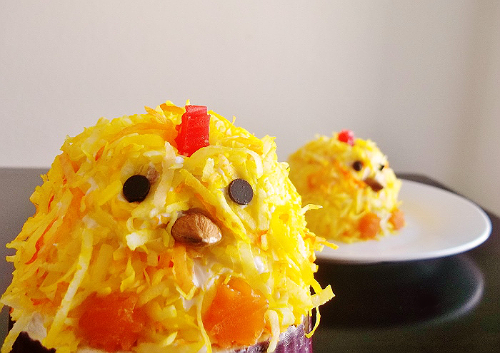 Coconutty Easter Chick Cupcakes