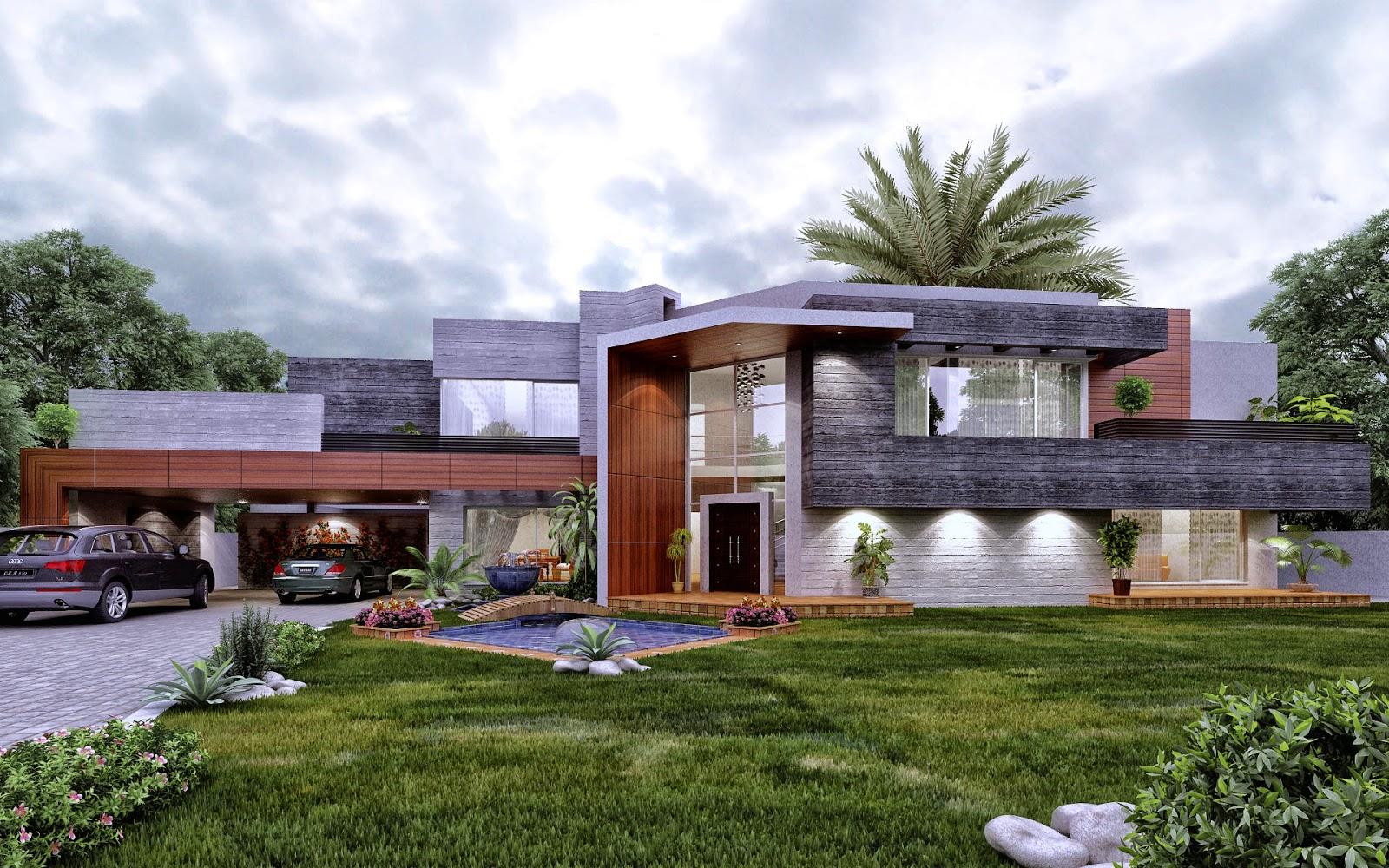 contemporary farm house 3d front design blog