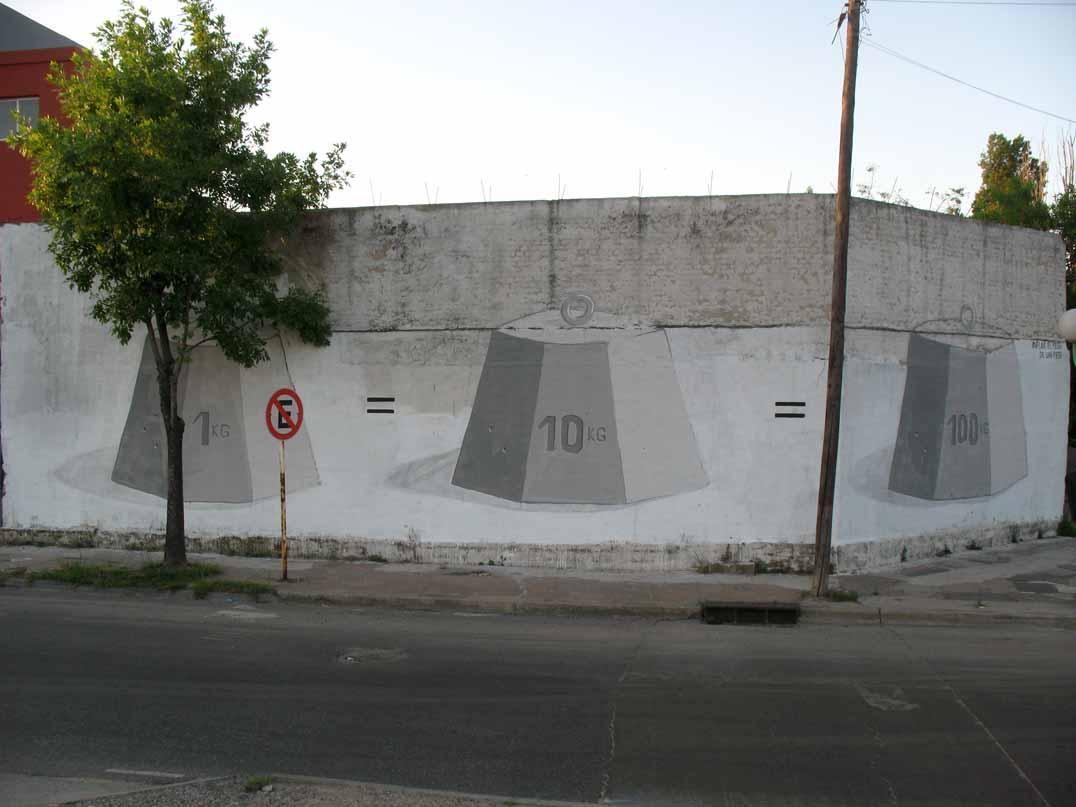 Escif inflar el peso de un peso new mural in buenos for El mural pelicula argentina