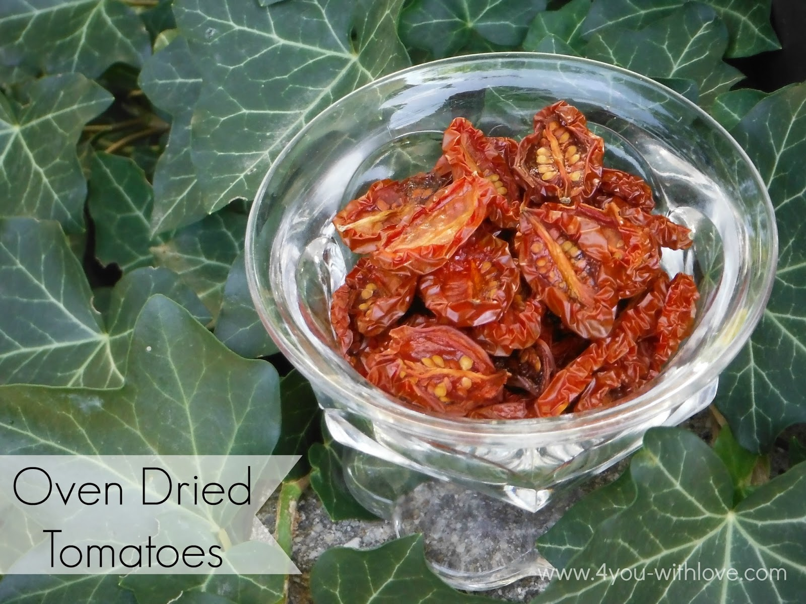 Party Thyme, Preserving the Summer - Oven Dried Tomatoes ...