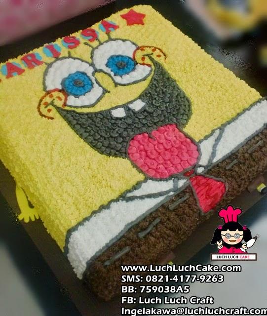 Kue Tart ulang tahun Spongebob Melet