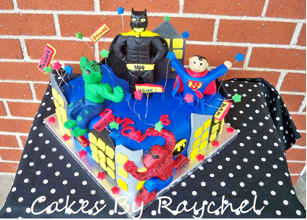 My Creative Way Superhero Cake Batman Spiderman Superman and