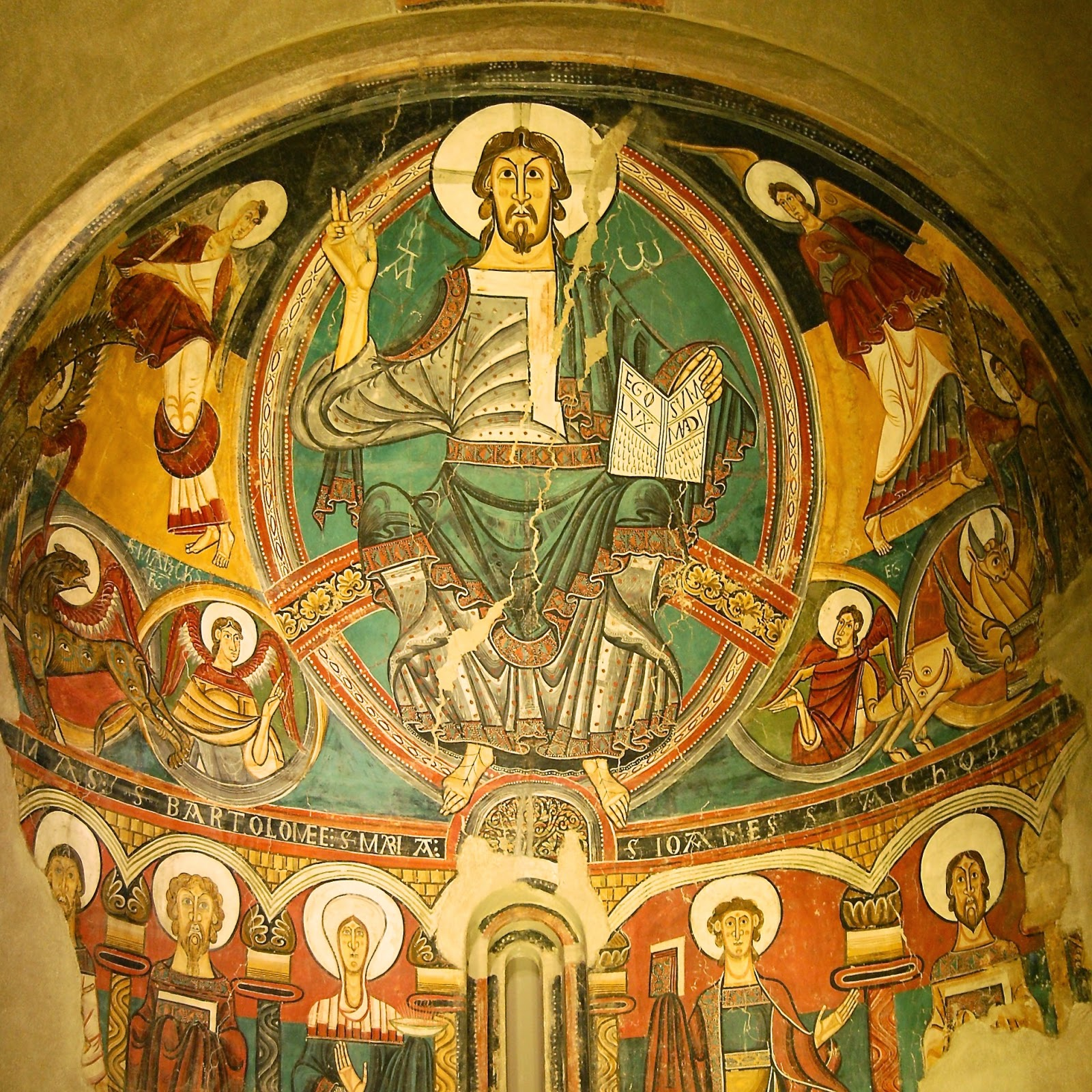 Apse of Sant Climent de Taüll, a Romanesque fresco from Catalonia