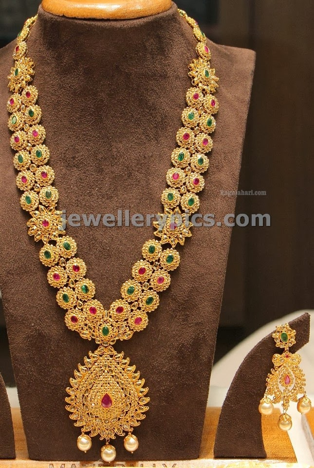 manepalli wedding collection uncut jewellery set
