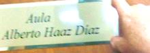 """Aula """"Alberto Haaz Díaz"""""""