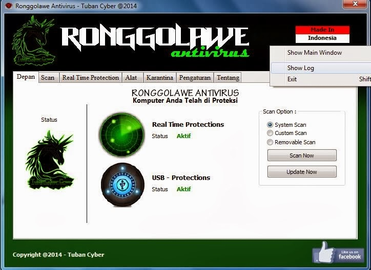 Ronggolawe Antivirus 1.0 Rilis