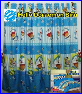 Gorden Motif Doraemon, Gorden Karakter Kartun Doraemon, Gorden Anak Motif Kartun Doraemon, Gorden Doraemon Karakter Kartun