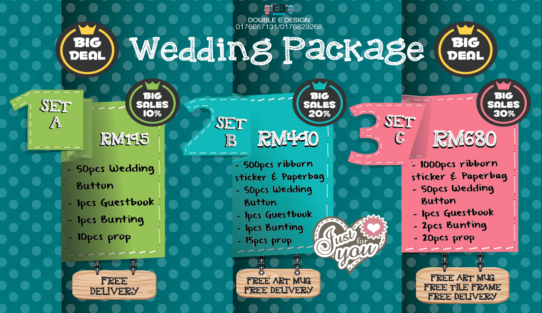 WEDDING PROMOTION PACKAGE !! ~ Double ED