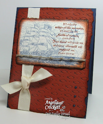 Our Daily Bread designs Fish Embossing Plate, Surging Sea, Designer Angie Crockett