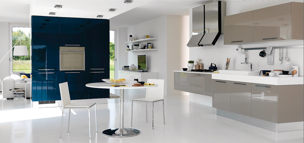 Modern open kitchen design with a little touch of color kdp for Open kitchen designs photo gallery