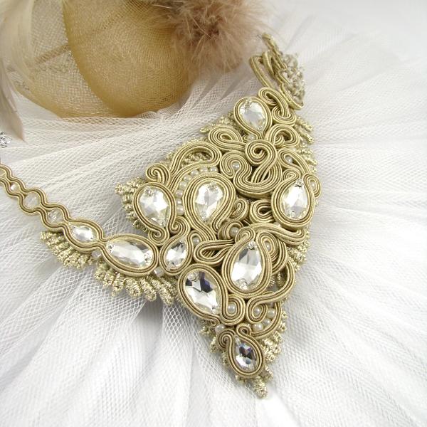 Sutaszowy naszyjnik na wesele