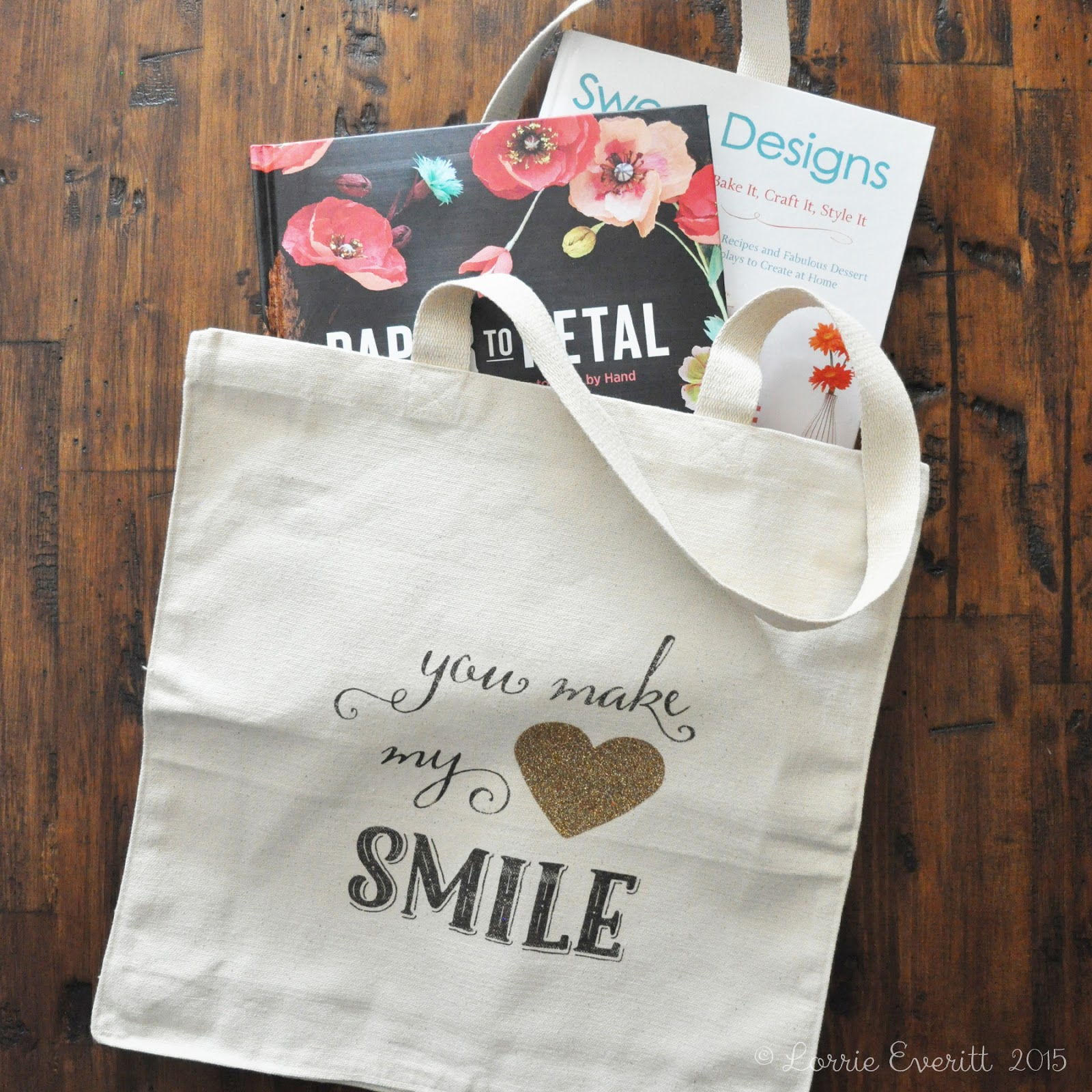 diy tote bags - you make my heart smile | Lorrie Everitt Studio