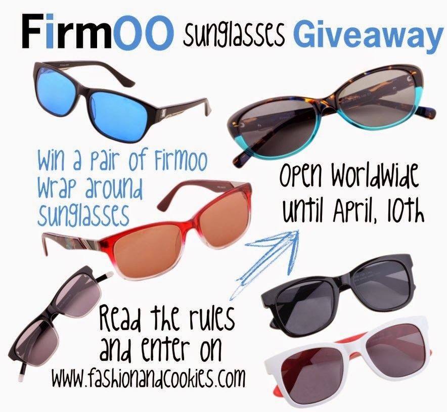 Win a pair of wrap around sunglasses from Firmoo on Fashion and Cookies fashion blog