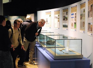 Visitors enjoying the Borderland exhibition at Clare Museum