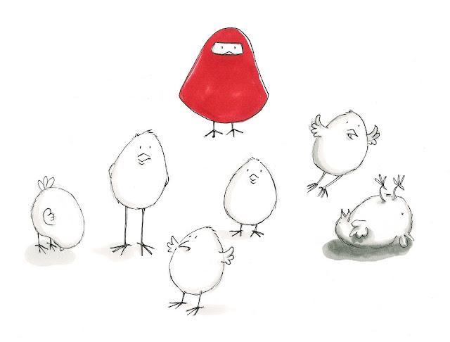 Kinderbuchillustration Küken
