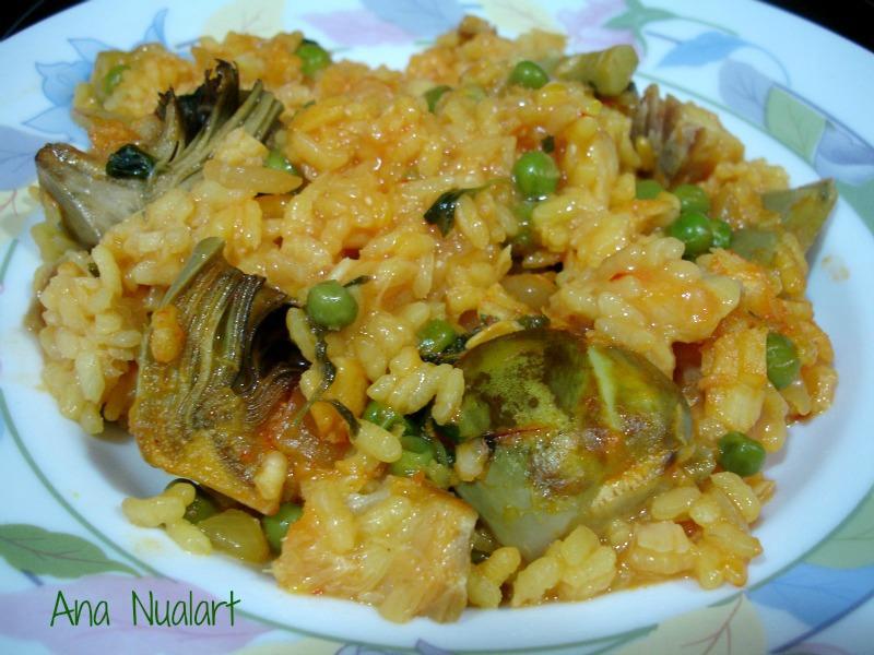 La cocinera de b tulo arroz con bacalao y alcachofas - Arroz con bacalao desmigado ...