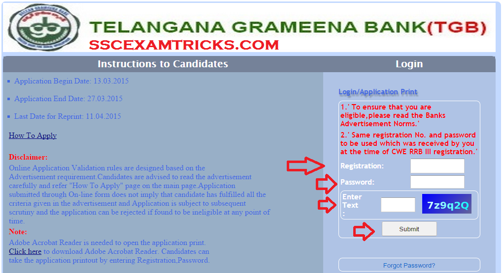 TELANAGANA GRAMEENA BANK RECRUITMENT 2015