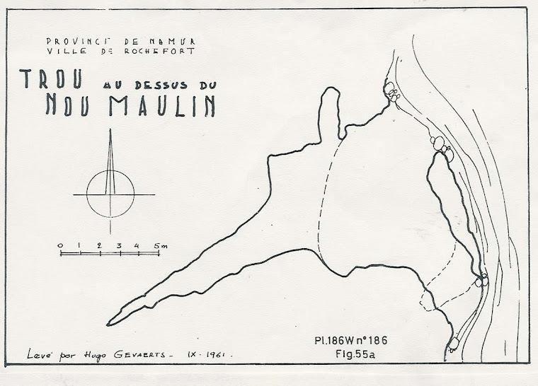 Trou au dessus du Nou Maulin 1961