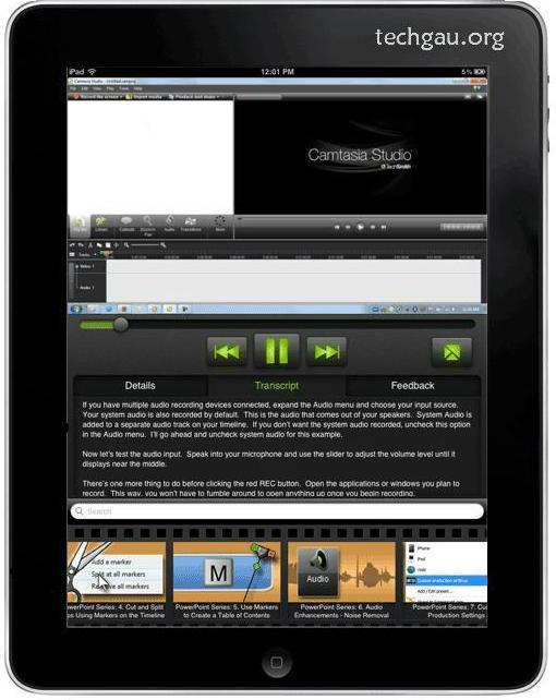 Camtasia iPad Video Tutorials