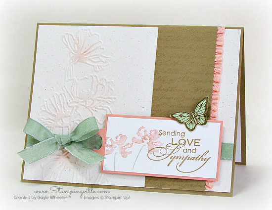 Elegant sympathy card with subtle colors #cardmaking #rubberstamping #StampinUp #stampingville