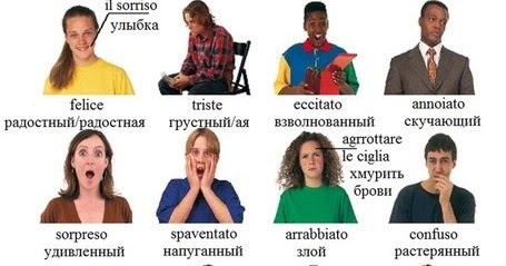 Итальянский в картинках: Учимся описывать эмоции