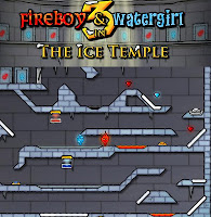 Fireboy And Watergirl 3 Ice Temple walkthrough.