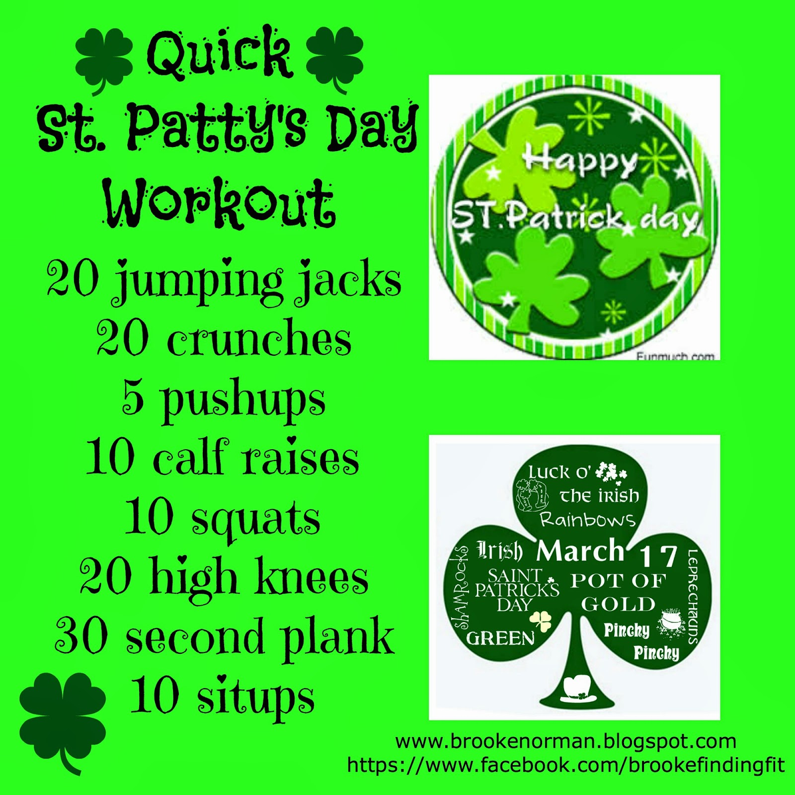 stpattys+workout Pi Day